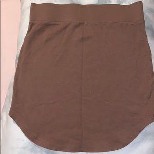 Brown tight skirt
